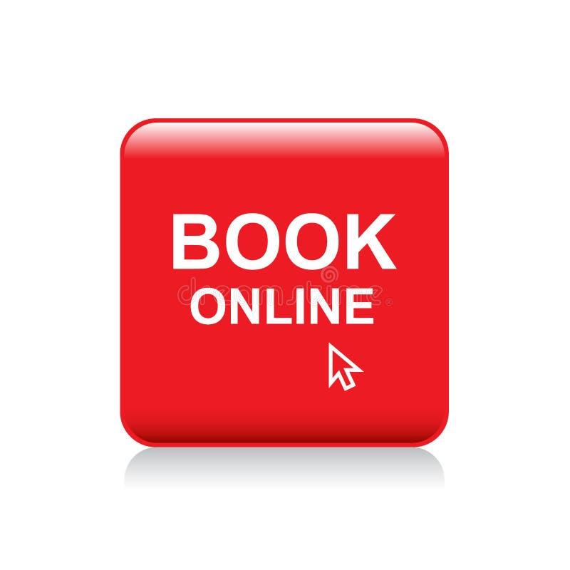 Botón en línea del web del libro libre illustration