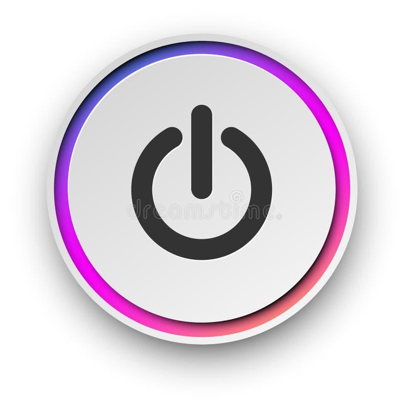Botón encendido-apagado de la vuelta redonda del espectro ilustración del vector