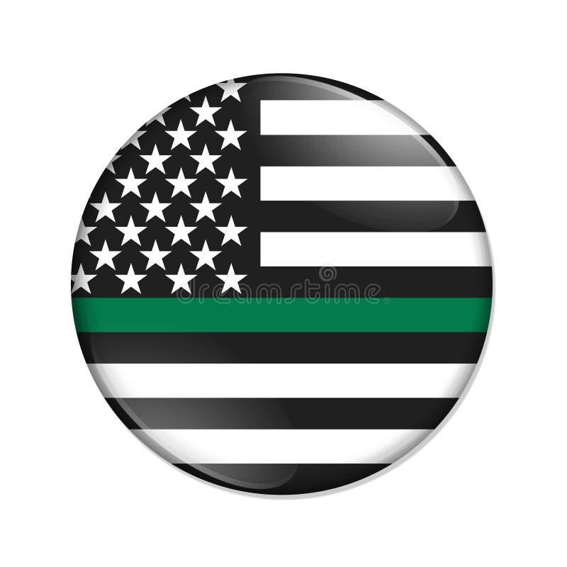 Botón fino americano de la insignia de la Línea Verde libre illustration