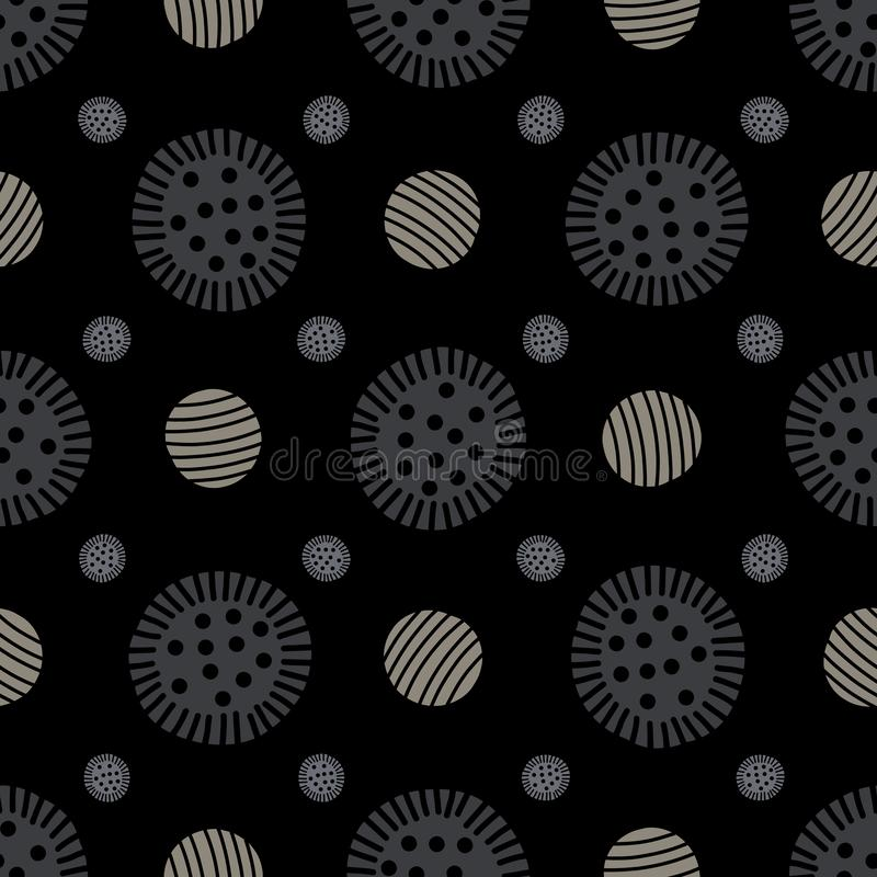Botón geométrico abstracto Dot Grid Seamless Vector Pattern stock de ilustración