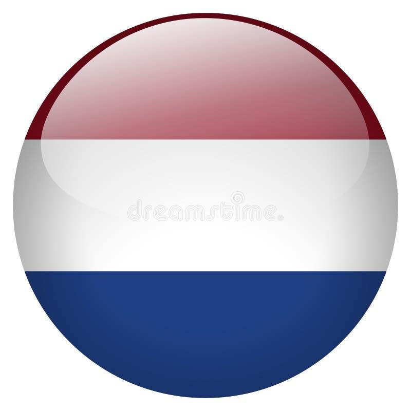 Botón holandés ilustración del vector