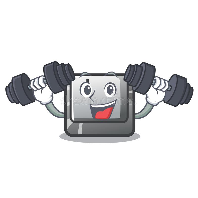 Botón I de la aptitud en una mascota del teclado libre illustration