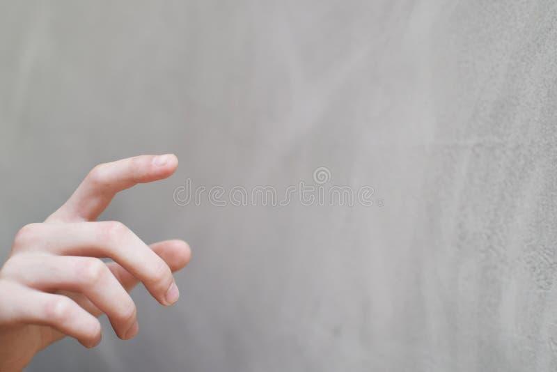 Botón imaginario del presionado a mano imagen de archivo