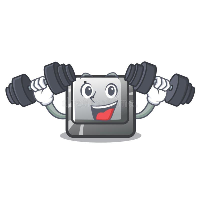 Botón L de la aptitud atado al teclado del carácter stock de ilustración