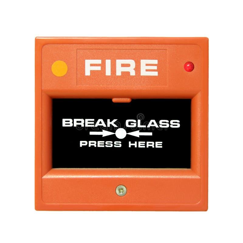 Botón la alarma de incendio imagen de archivo