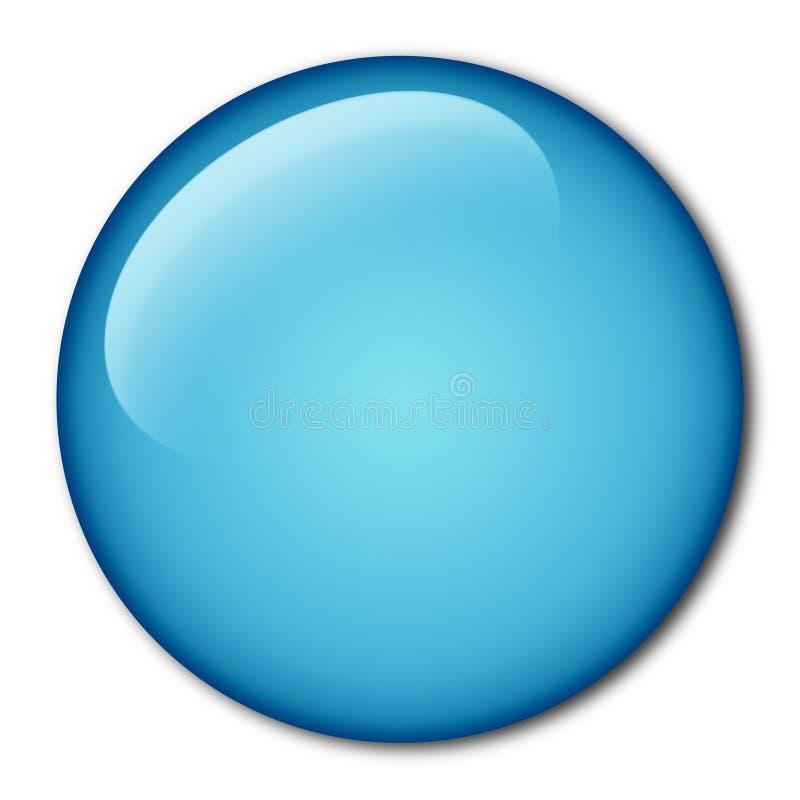 Botón llano del Aqua stock de ilustración