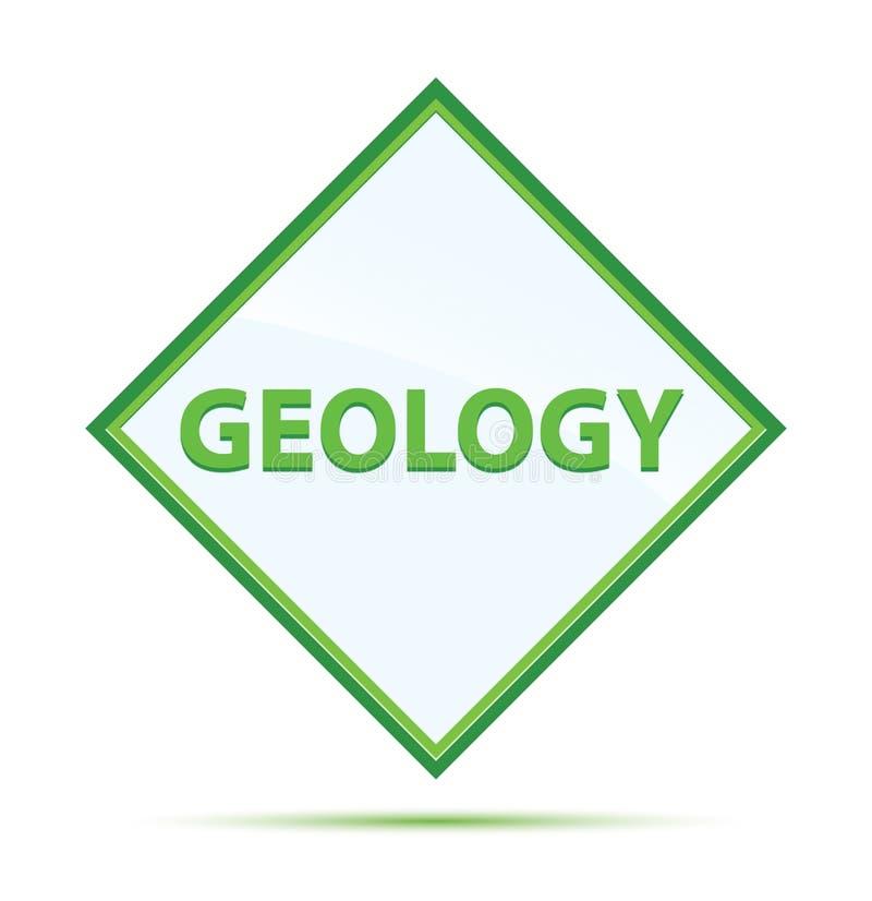 Botón moderno del diamante del verde del extracto de la geología libre illustration
