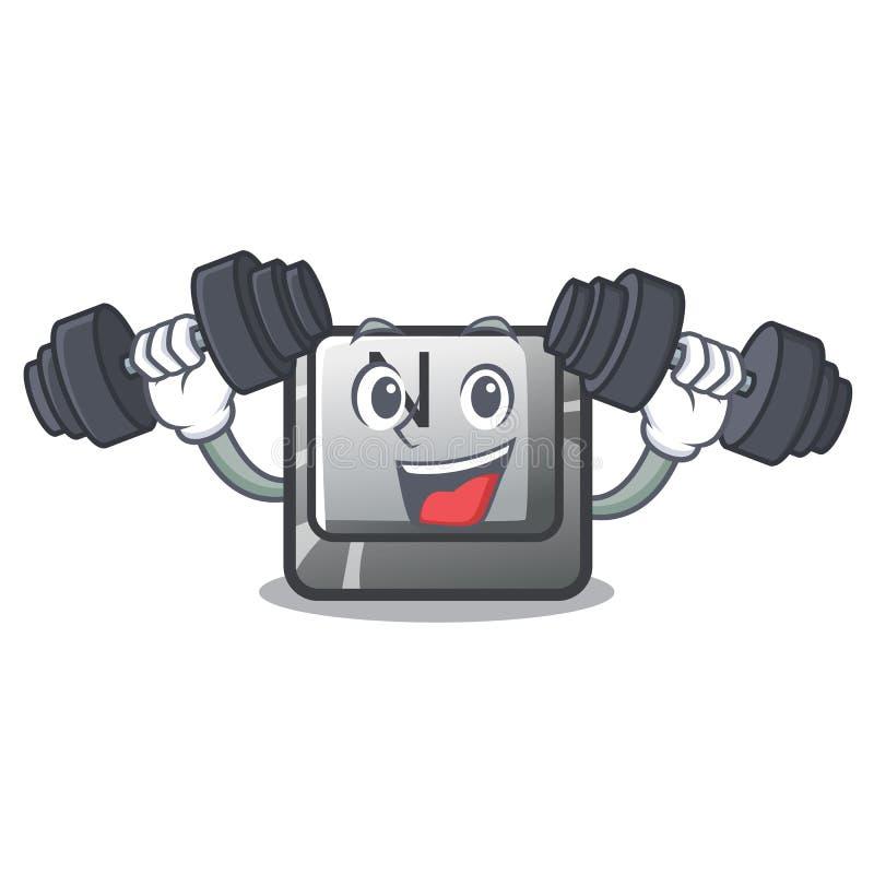 Botón N de la aptitud en un carácter del juego ilustración del vector