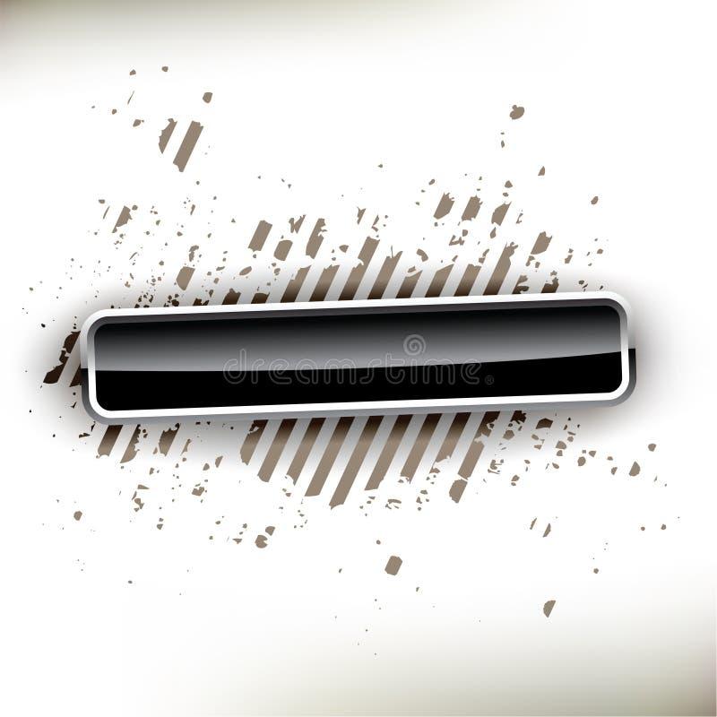 Botón negro brillante ilustración del vector