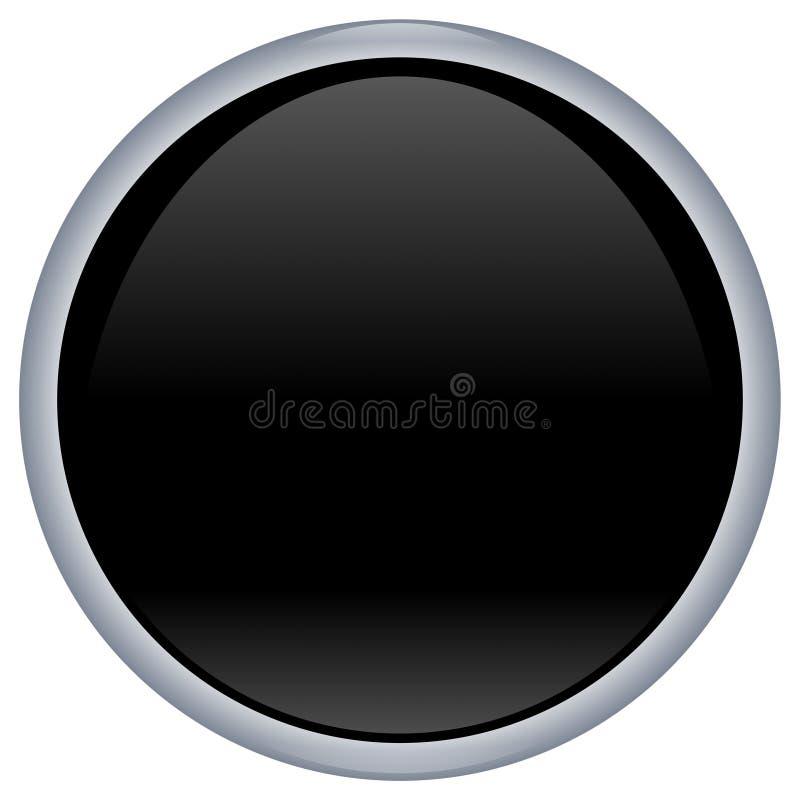 Botón negro del aqua libre illustration