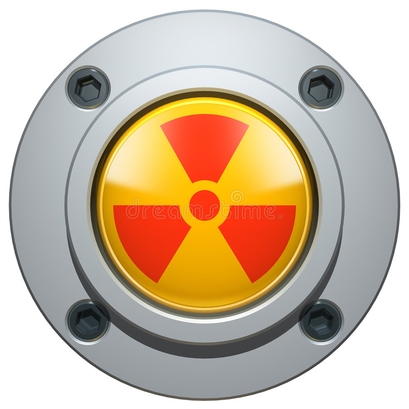 Botón nuclear ilustración del vector