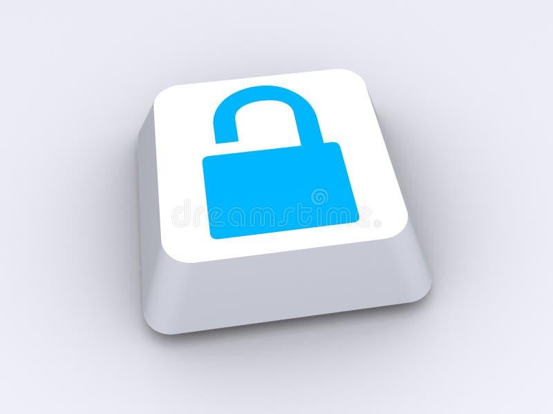 Botón o icono de cerradura abierta stock de ilustración