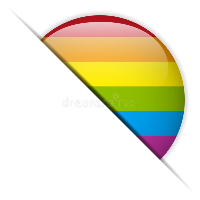 Botón rayado del círculo gay de la bandera libre illustration