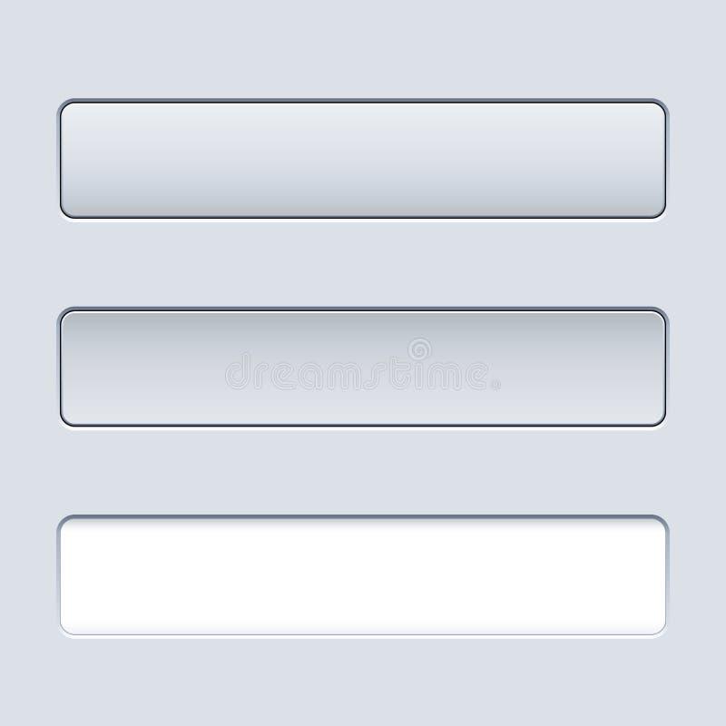 Botón rectangular del interfaz ilustración del vector