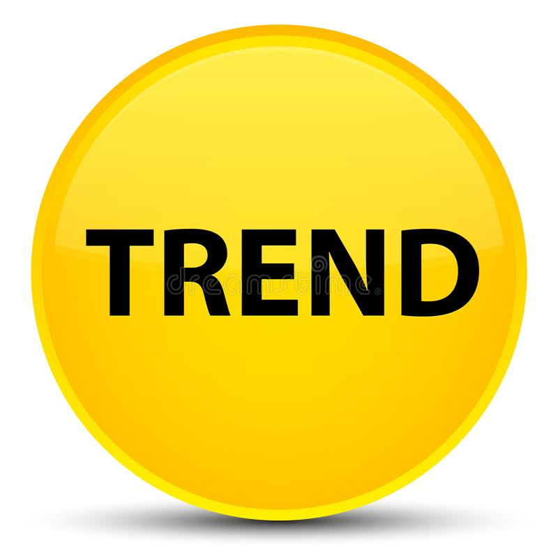Botón redondo amarillo especial de la tendencia stock de ilustración