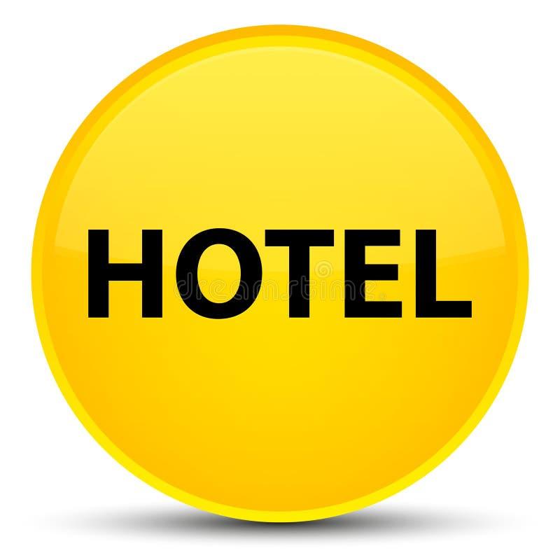 Botón redondo amarillo especial del hotel stock de ilustración