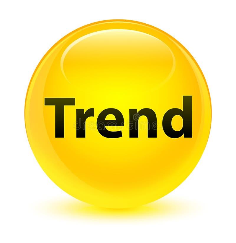 Botón redondo amarillo vidrioso de la tendencia ilustración del vector