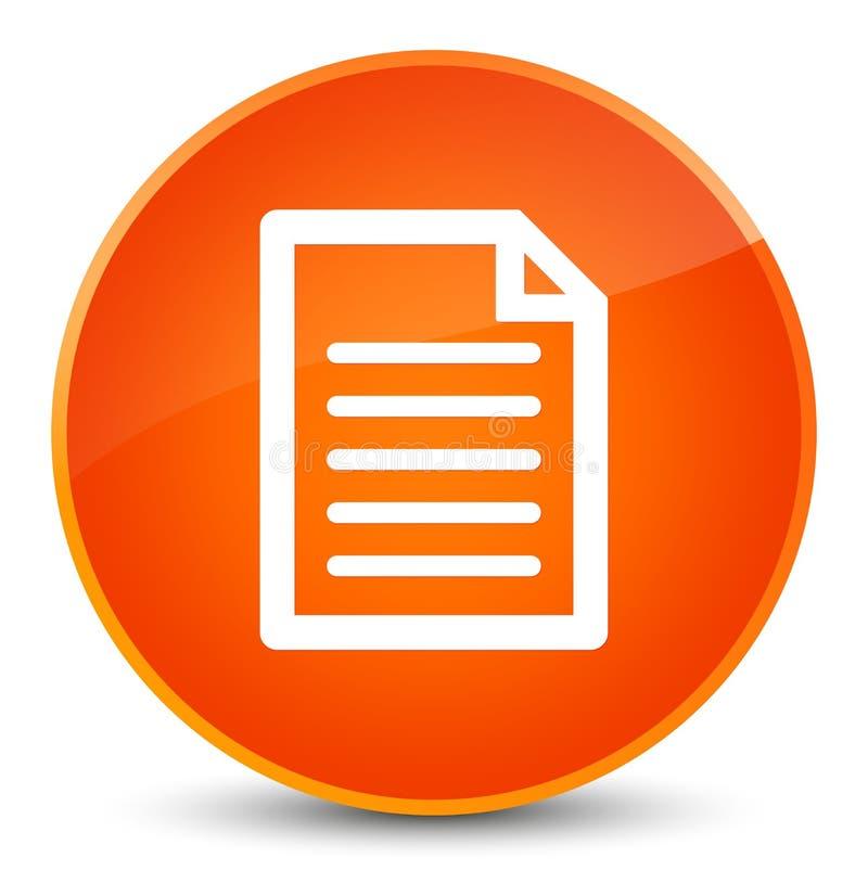 Botón redondo anaranjado elegante del icono de la página stock de ilustración
