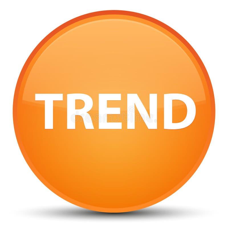 Botón redondo anaranjado especial de la tendencia stock de ilustración