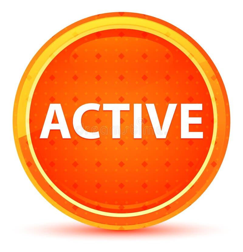 Botón redondo anaranjado natural activo stock de ilustración