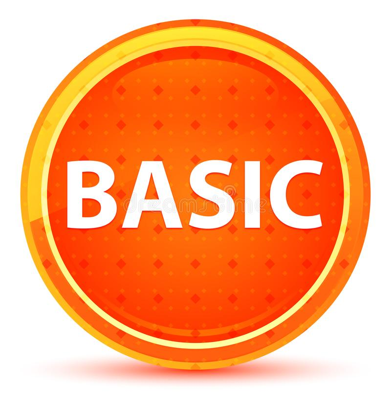 Botón redondo anaranjado natural básico libre illustration