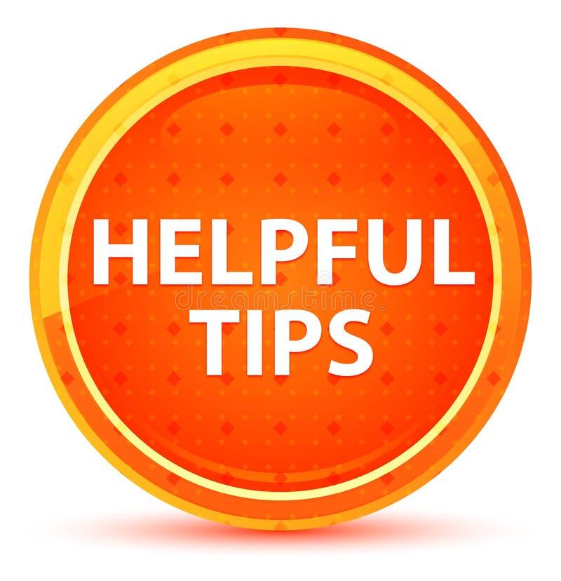 Botón redondo anaranjado natural de las extremidades útiles stock de ilustración