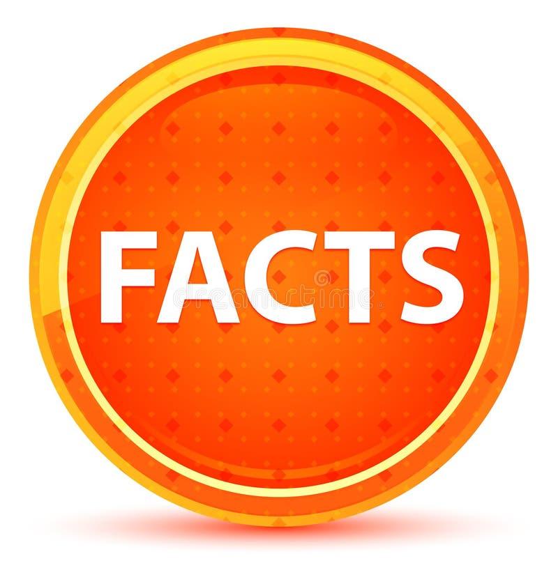 Botón redondo anaranjado natural de los hechos stock de ilustración
