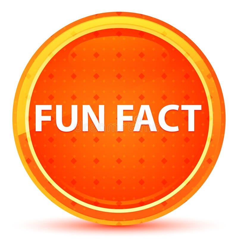Botón redondo anaranjado natural del dato divertido stock de ilustración