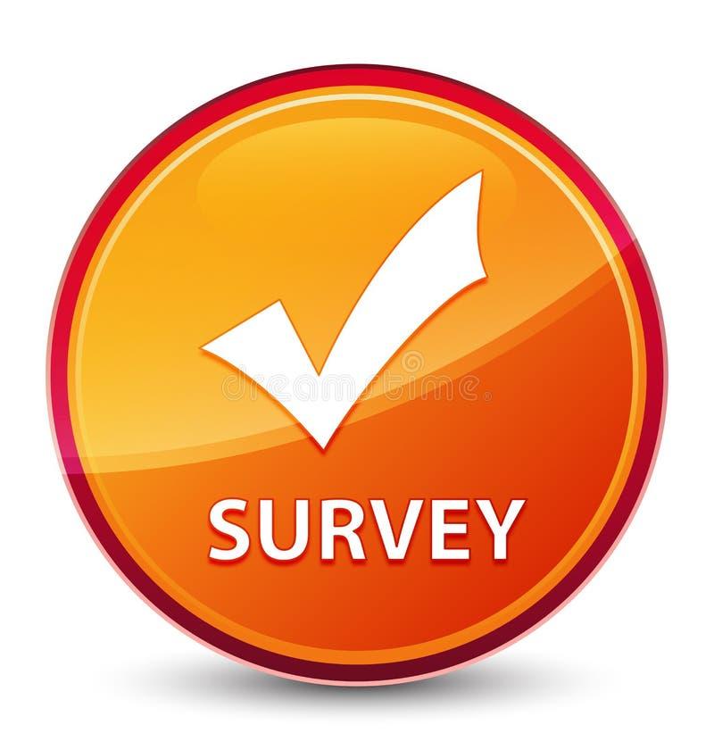 Botón redondo anaranjado vidrioso especial de la encuesta (valide el icono) stock de ilustración