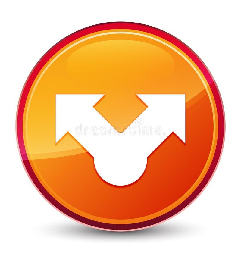Botón redondo anaranjado vidrioso especial del icono de la parte libre illustration