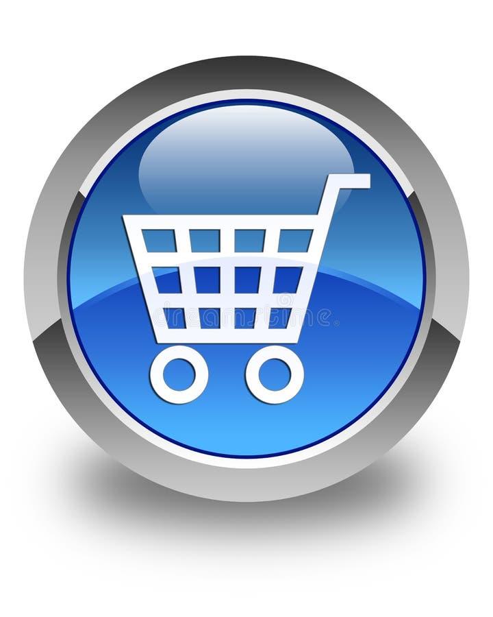 Botón redondo azul brillante del icono del comercio electrónico libre illustration