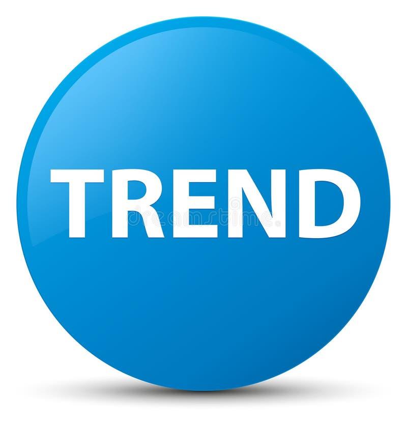 Botón redondo azul ciánico de la tendencia libre illustration