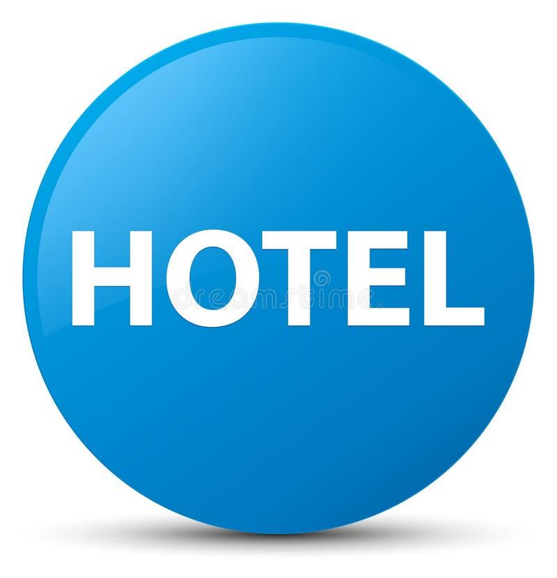 Botón redondo azul ciánico del hotel libre illustration