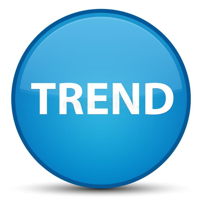 Botón redondo azul ciánico especial de la tendencia libre illustration