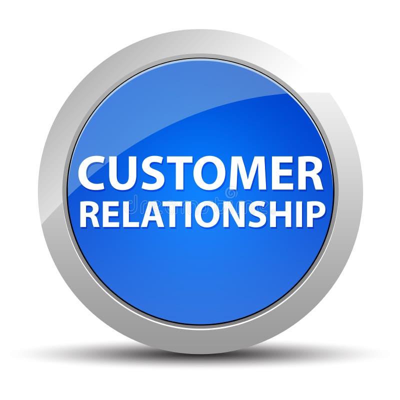 Botón redondo azul de la relación del cliente foto de archivo