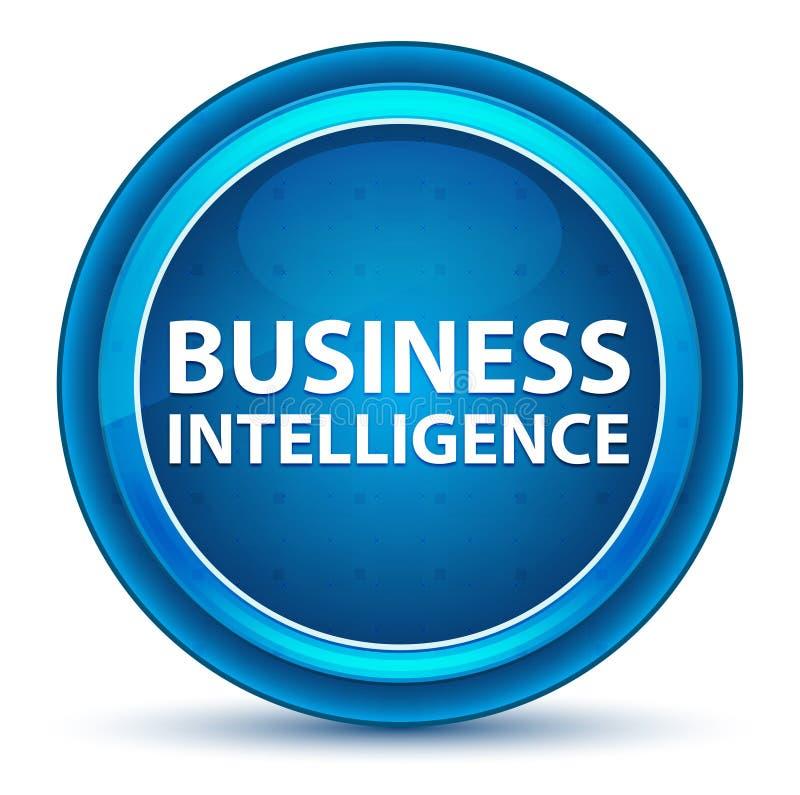 Botón redondo azul del globo del ojo de la inteligencia empresarial ilustración del vector