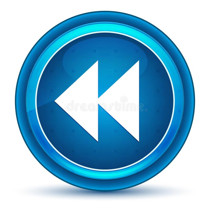 Botón redondo azul del globo del ojo posterior del icono del salto fotografía de archivo libre de regalías