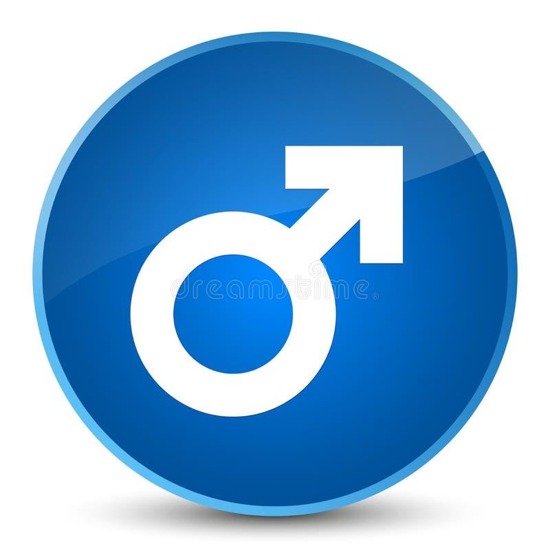 Botón redondo azul elegante del icono masculino de la muestra stock de ilustración