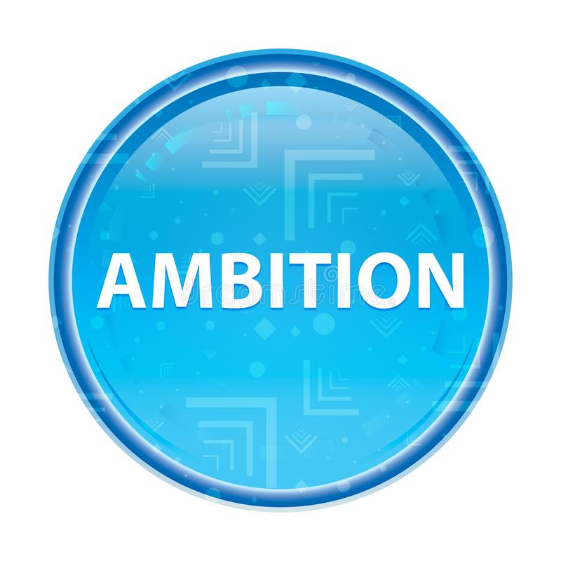 Botón redondo azul floral de la ambición libre illustration