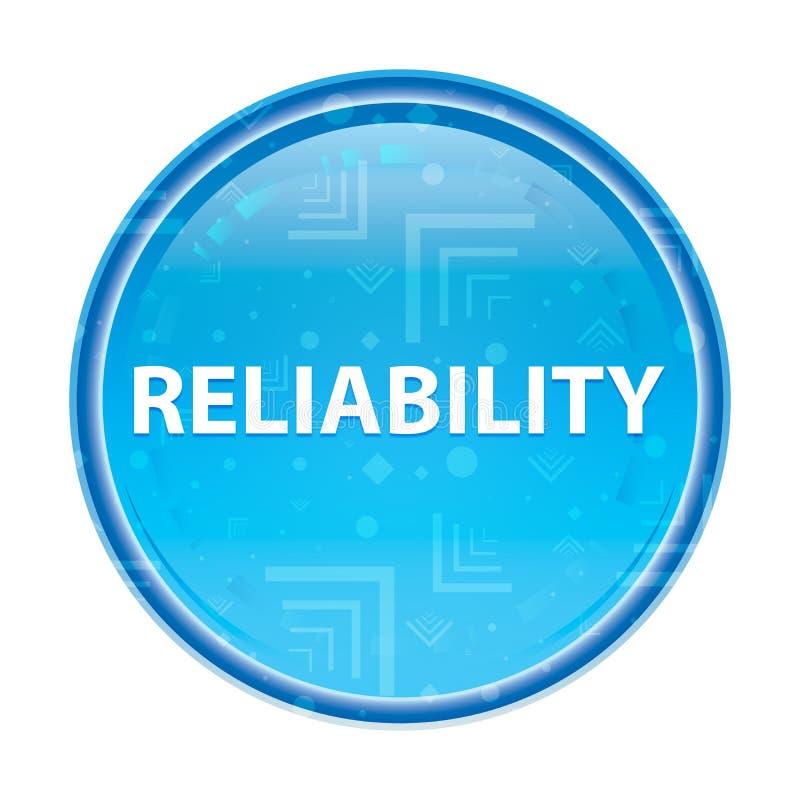 Botón redondo azul floral de la confiabilidad ilustración del vector