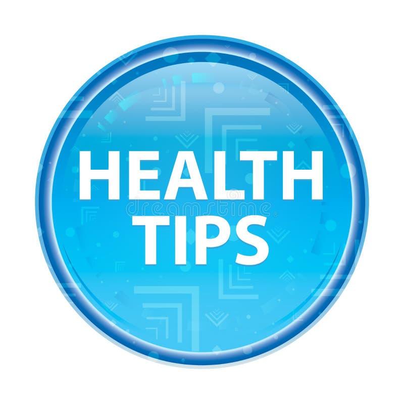 Botón redondo azul floral de las extremidades de la salud libre illustration
