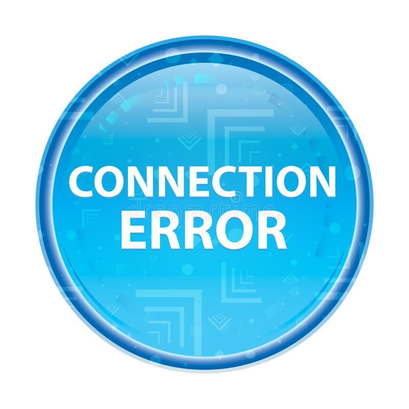Botón redondo azul floral del error de la conexión libre illustration