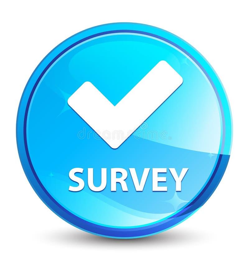Botón redondo azul natural del chapoteo de la encuesta (valide el icono) ilustración del vector