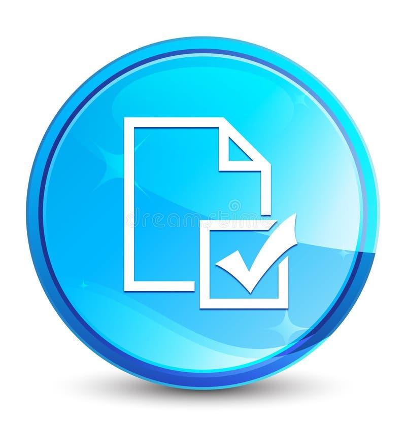 Botón redondo azul natural del chapoteo del icono de la encuesta stock de ilustración