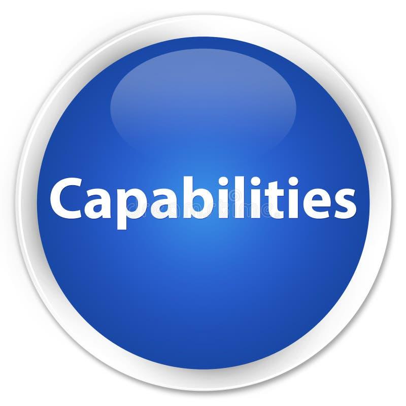 Botón redondo azul superior de las capacidades ilustración del vector