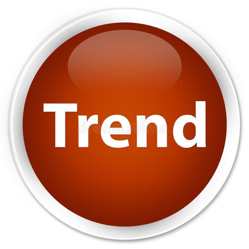 Botón redondo marrón superior de la tendencia stock de ilustración