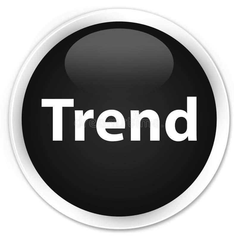 Botón redondo negro superior de la tendencia libre illustration