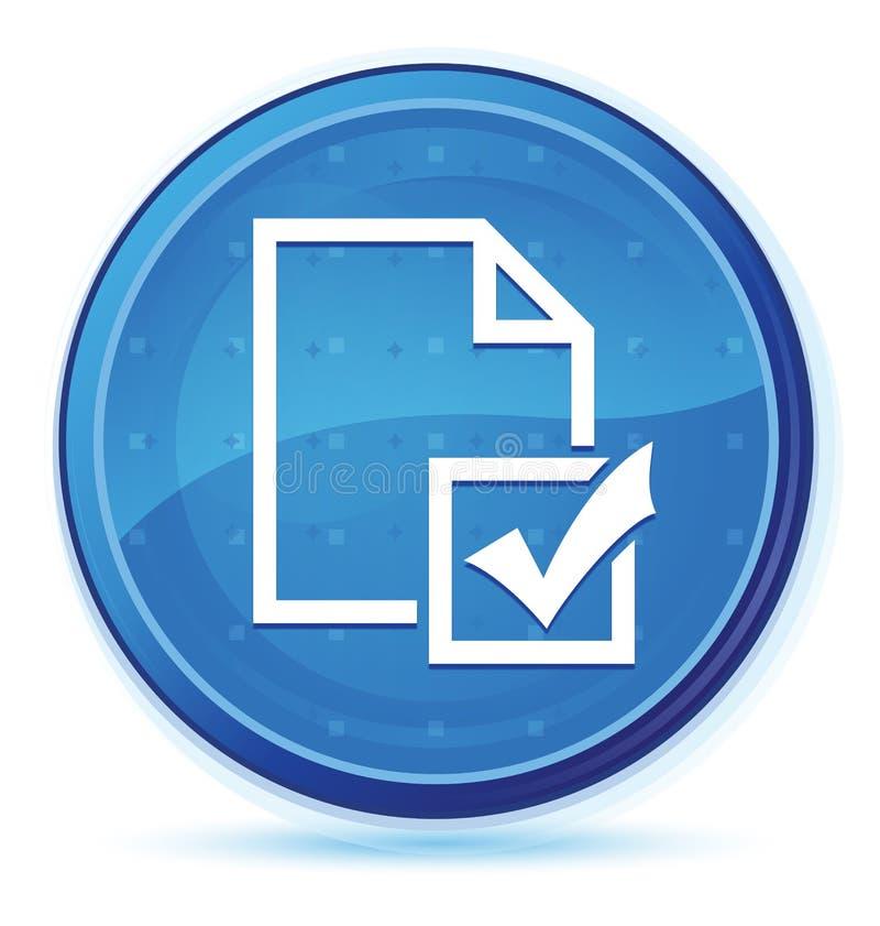 Botón redondo primero azul de la medianoche del icono de la encuesta ilustración del vector