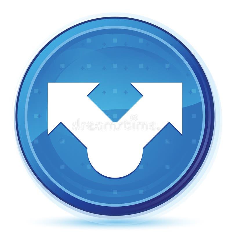 Botón redondo primero azul de la medianoche del icono de la parte ilustración del vector