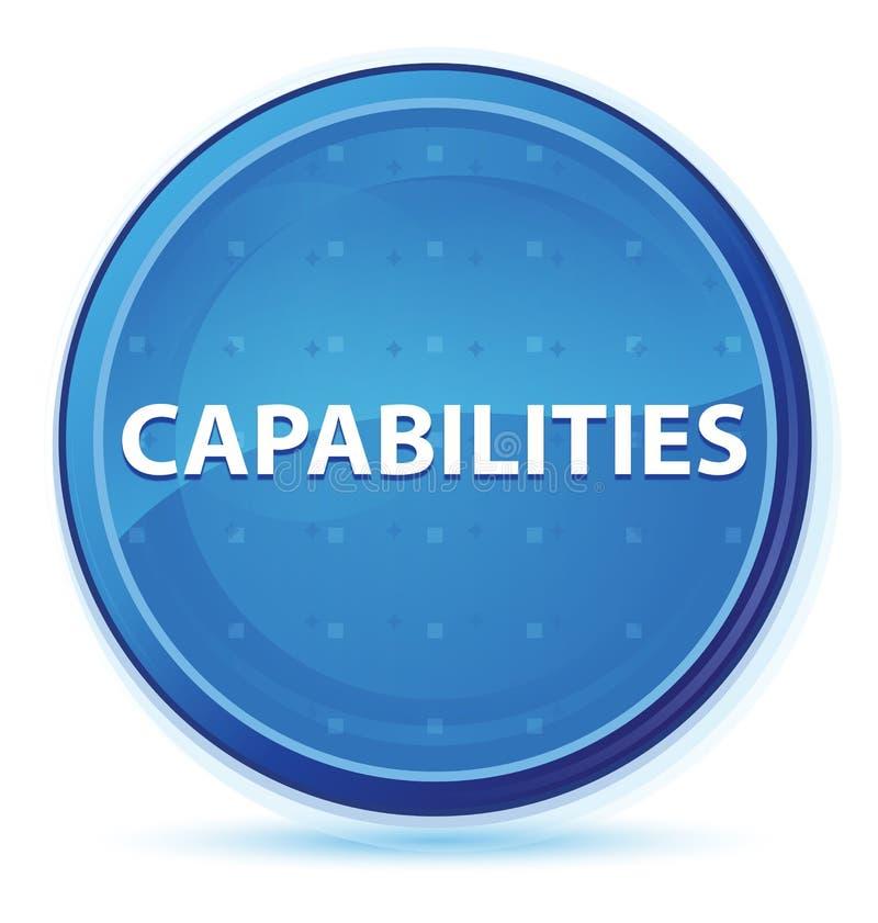 Botón redondo primero azul de la medianoche de las capacidades stock de ilustración